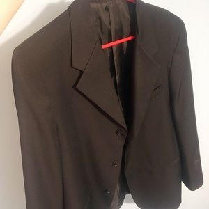 Black suit jacket - men's top size 20